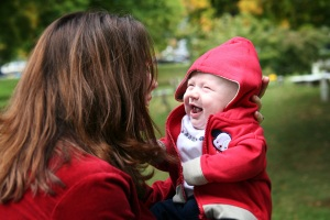 Cor laughing with mom blog
