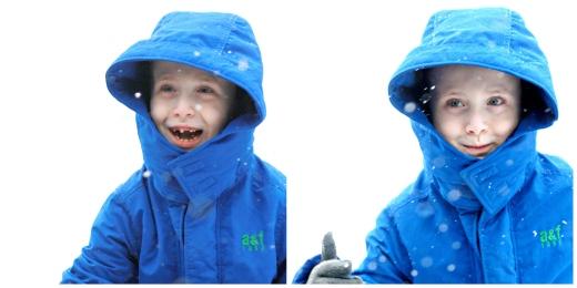 happy blizzard boy